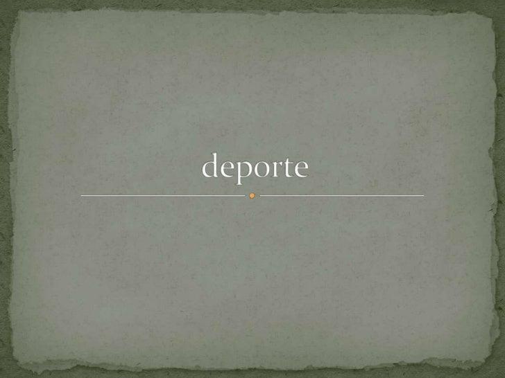 deporte<br />