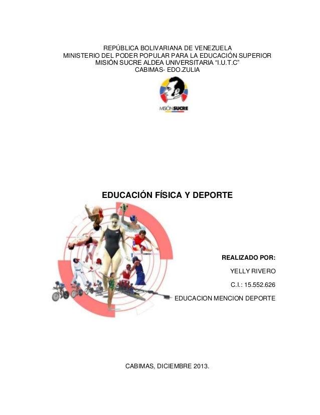 REPÚBLICA BOLIVARIANA DE VENEZUELA MINISTERIO DEL PODER POPULAR PARA LA EDUCACIÓN SUPERIOR MISIÓN SUCRE ALDEA UNIVERSITARI...