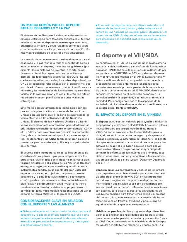 Deporte para el Desarrollo y la Paz (Unicef)