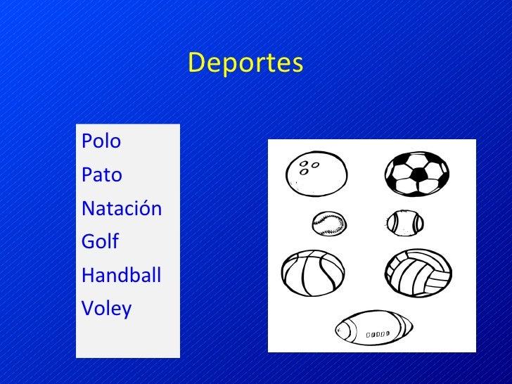 Deportes Polo Pato Natación Golf Handball Voley