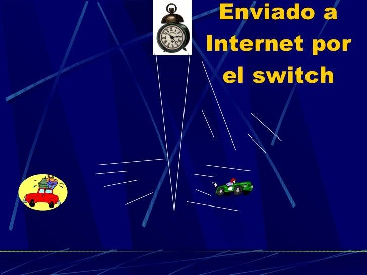 Enviado a Internet por el switch