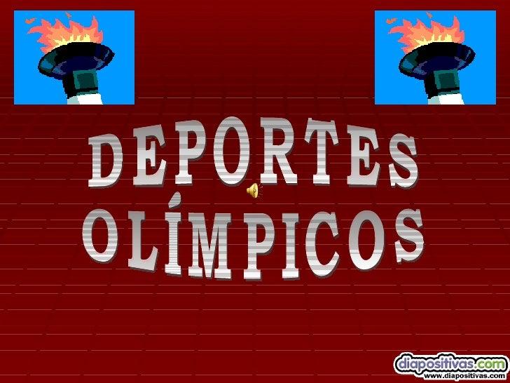 SE ACERCAN LAS   OLIMPIADAS, Y CONELLAS LAS MODALIDADES     DEPORTIVAS DE       SIEMPRE,  PERO ESTA VEZ CON        ALGUNAS...