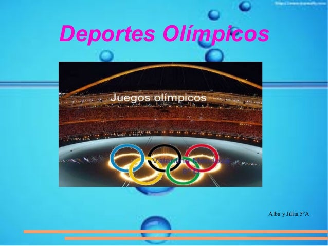 Deportes Olímpicos Alba y Júlia 5ºA