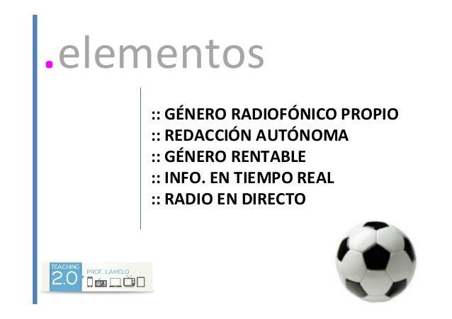 Los deportes en la radio Slide 2