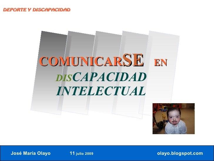 DEPORTE Y DISCAPACIDAD                  COMUNICARSE             EN                DISCAPACIDAD                INTELECTUAL ...