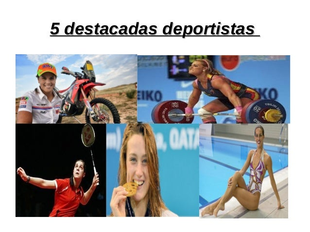 5 destacadas deportistas5 destacadas deportistas