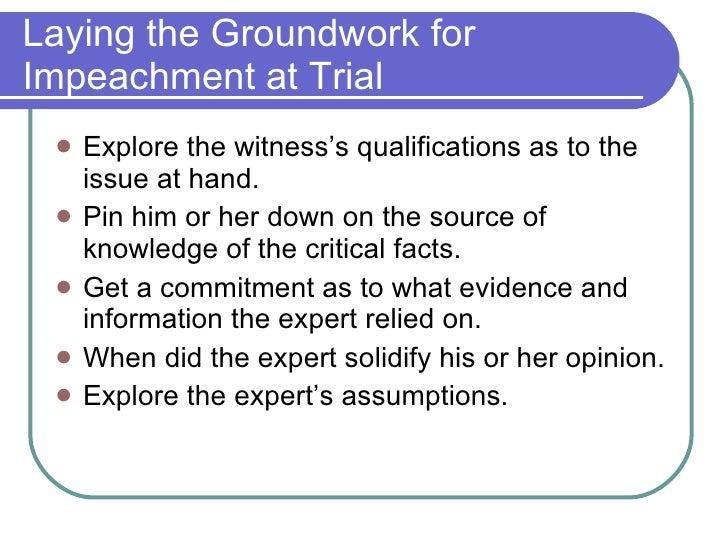 Expert witness the eligibility criteria