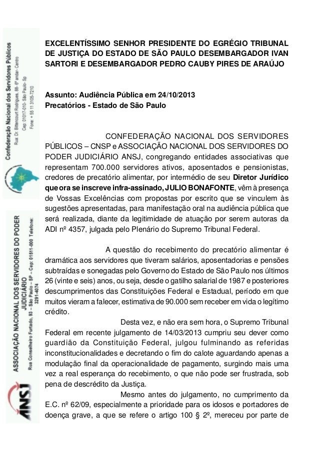 EXCELENTÍSSIMO SENHOR PRESIDENTE DO EGRÉGIO TRIBUNAL DE JUSTIÇA DO ESTADO DE SÃO PAULO DESEMBARGADOR IVAN SARTORI E DESEMB...