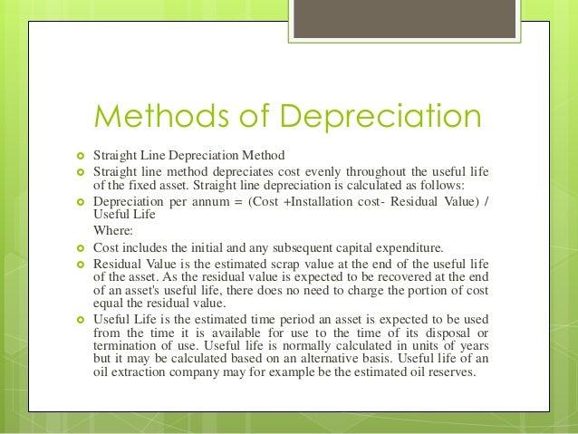 Depreciation with different methods