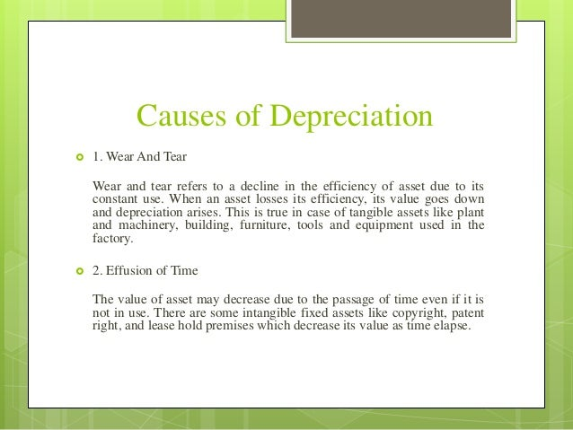depreciation with different methods