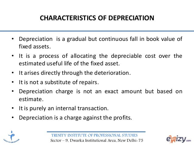 a study of depreciation This study for their detailed analysis of india's experiences during the  implementation of its accelerated depreciation policy in the wind sector the gsi  would.