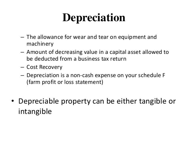 depreciation schedule for equipment