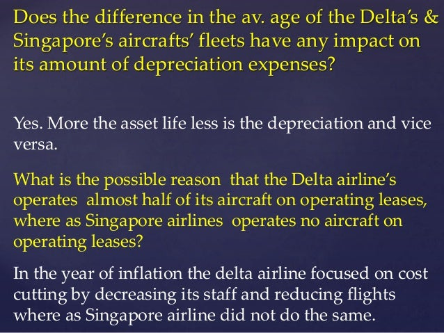 depreciation at delta airlines and singapore airlines b Depreciation at delta air lines and singapore airlines b case study help, case study solution & analysis & in line with its generate to develop its company interests.