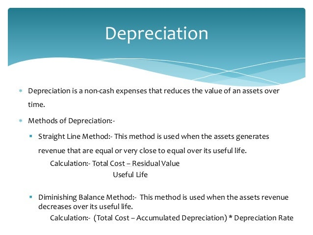 depreciation cost in steel industry