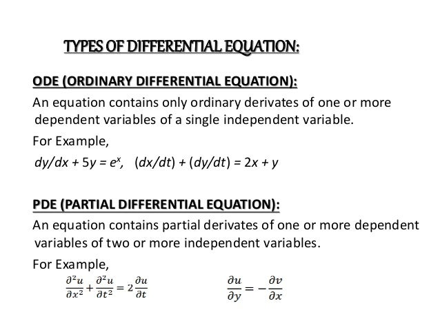 history of differential equation The main idea of this book is to introduce the main concepts and results of  wavelet methods for solving linear elliptic partial differential equations in a  framework.
