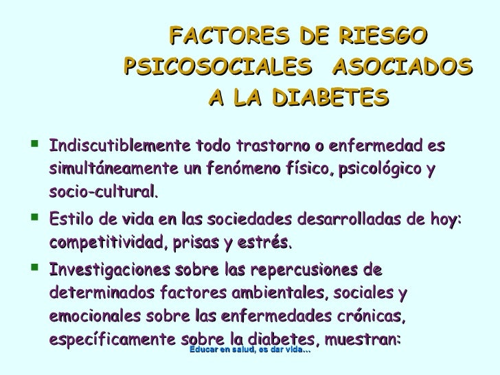 Depresion, etress y diabetes.