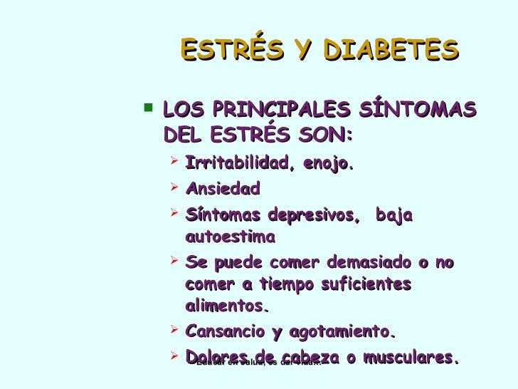 Depresion, etress y diabetes.