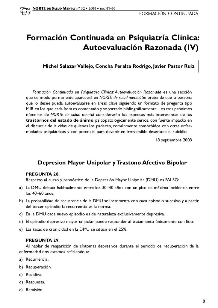NORTE    DE   SALUD MENTAL nº 32 • 2008 • PAG 81–86                                                                FORMACI...