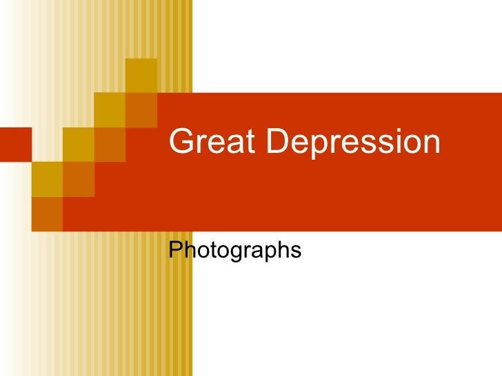 Great Depression Photographs