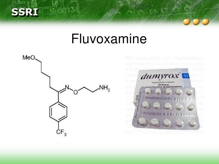 Fluvoxamine Luvox Withdrawal