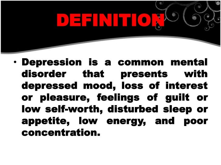 define depression in psychology