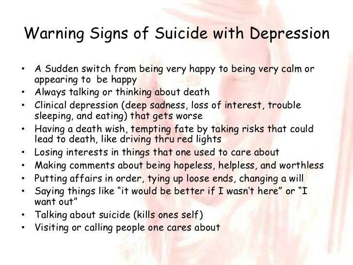 depressionwarning signs of suicide with depression\u2022
