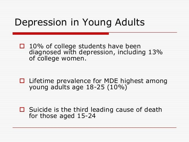 signs of depression in young adults