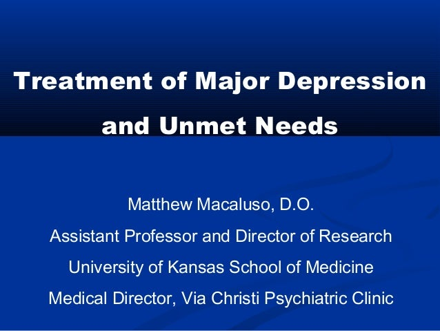 Matthew Macaluso, D.O. Assistant Professor and Director of Research University of Kansas School of Medicine Medical Direct...