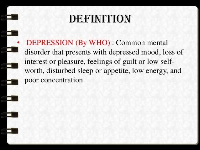 DEFINITION U2022 DEPRESSION ...