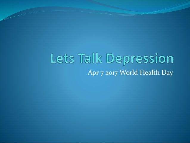 Apr 7 2017 World Health Day