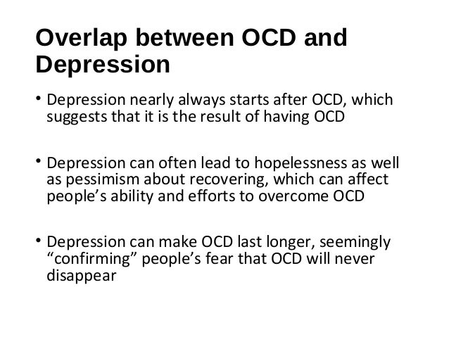 dealing with ocd and depression