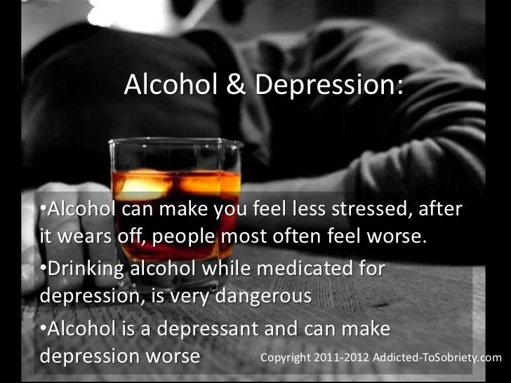 Does Drinking Alcohol Help Depression