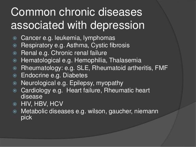 Depression among chronically ill children