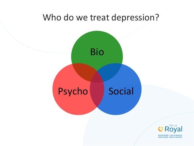 Bio   Social  Psycho   HéWhtérogén  Who  do  we  treat  depression?