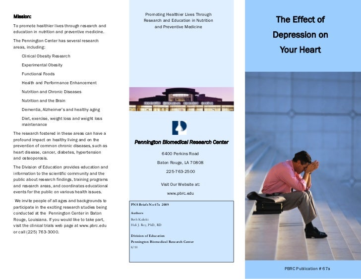Depression and the heart pamphlet