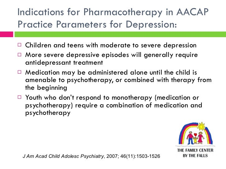 Depression In Children And Teens Aacap >> Current Management Of Depression And Anxiety In Children And Adolesce