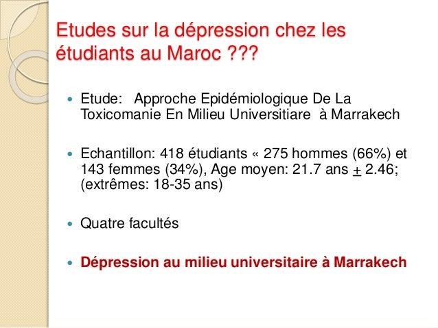 Dépression et consommation   Prévalence de la  dépression chez les  consommateurs:   Prévalence de la  dépression chez l...