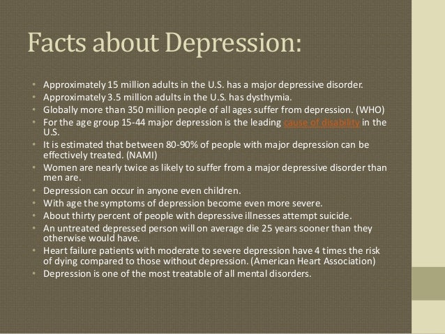 Depression facts