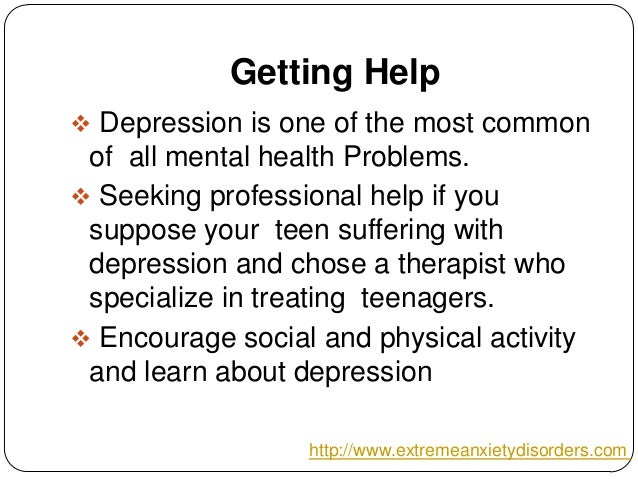 how to help your teenager with depression