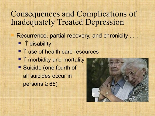 Consequences and Complications ofInadequately Treated Depression   Recurrence, partial recovery, and chronicity . . .    ...
