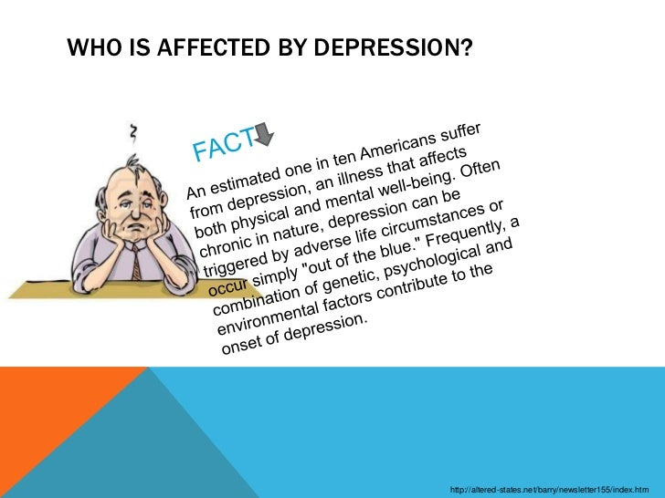 depression affects 19 million americans each year Clinical depression is much more common than people believe it will affect more  than 19 million americans this year one-fourth of all women and one-eighth of.