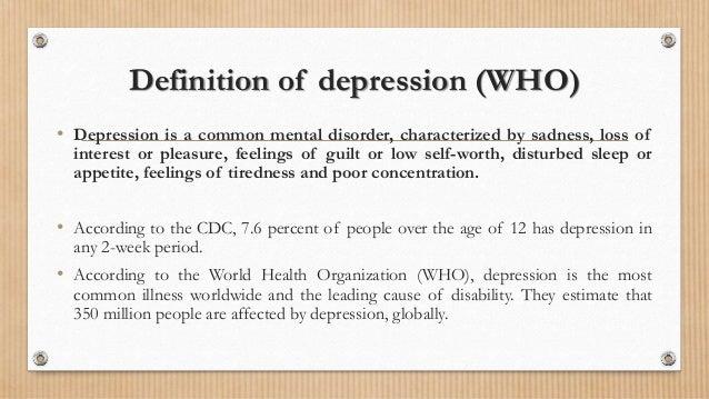 Definition Of Depression ...