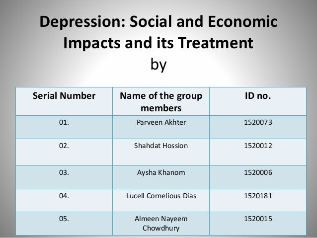 social impacts on depression and bi polar disorder Patients with bipolar disorder often have contact with the social welfare and legal systems bipolar disorder impairs occupational functioning and may lead to premature mortality through suicide.