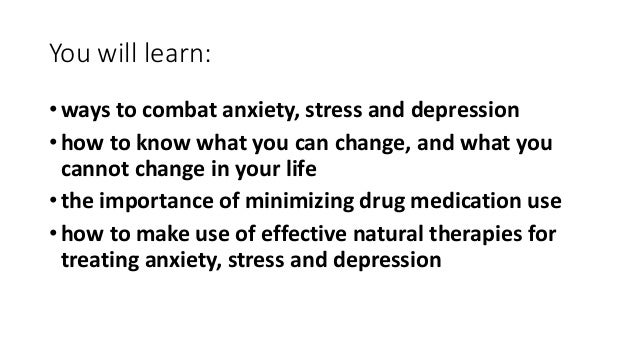 Natural Ways To Decrease Anxiety And Depression