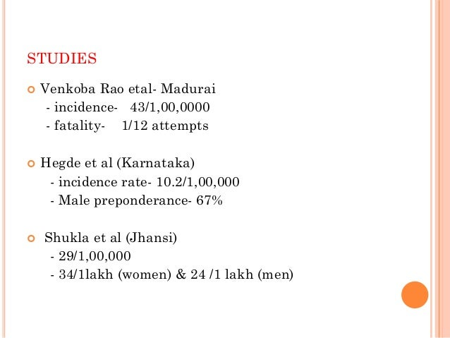 OTHER STUDIES  Banerjee etal (kolkata) - incidence – 43/1,00,000 - women – 79.3 % - 75 % -< 25 yr age