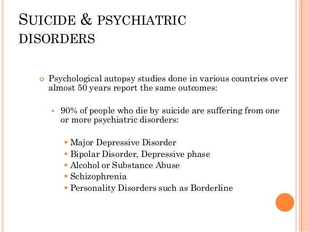 RISK FACTORS FOR SUICIDE  Psychiatric disorders  Past suicide attempts  Symptom risk factors  Sociodemographic risk fa...