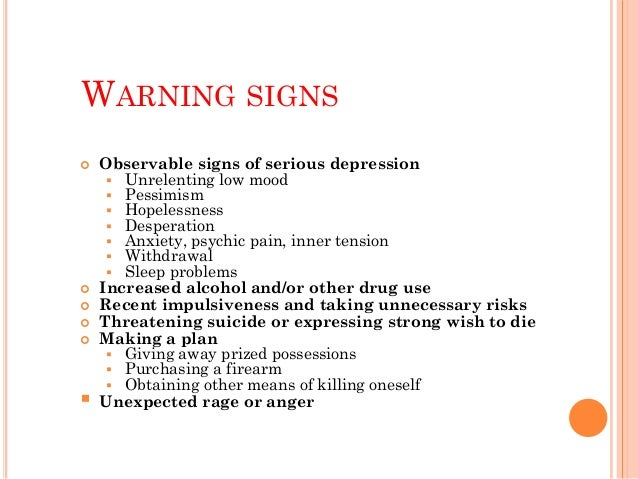 PREVENTING SUICIDE Prevention within our community  Education  Screening  Treatment  Means Restriction