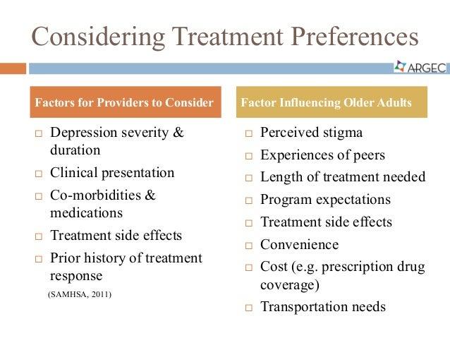 argec depression treatment and programs5 considering treatment preferences  depression