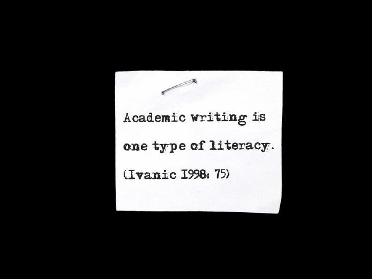 Academic or essayist literacy