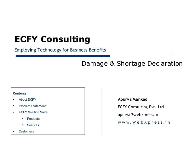 January 28, 2013         ECFY Consulting         Employing Technology for Business Benefits                               ...